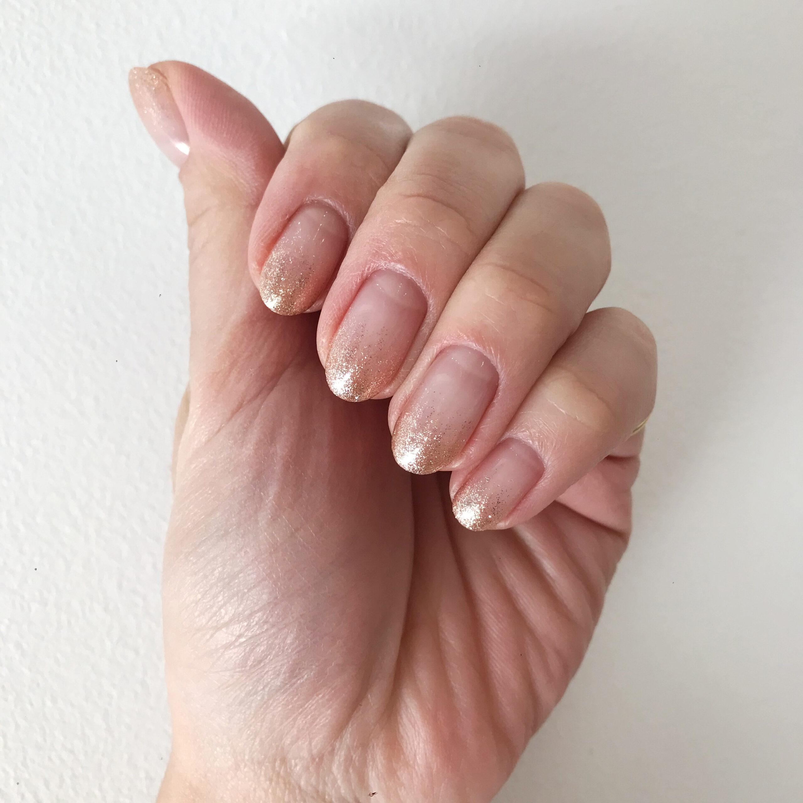 自爪に優しい para gel ラメグラデーション